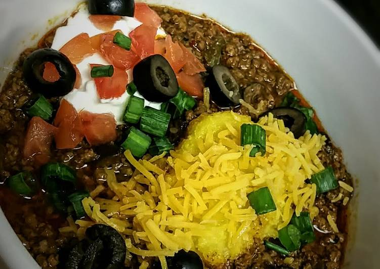 Crockpot Santa Fe Chili with Polenta Dumplings