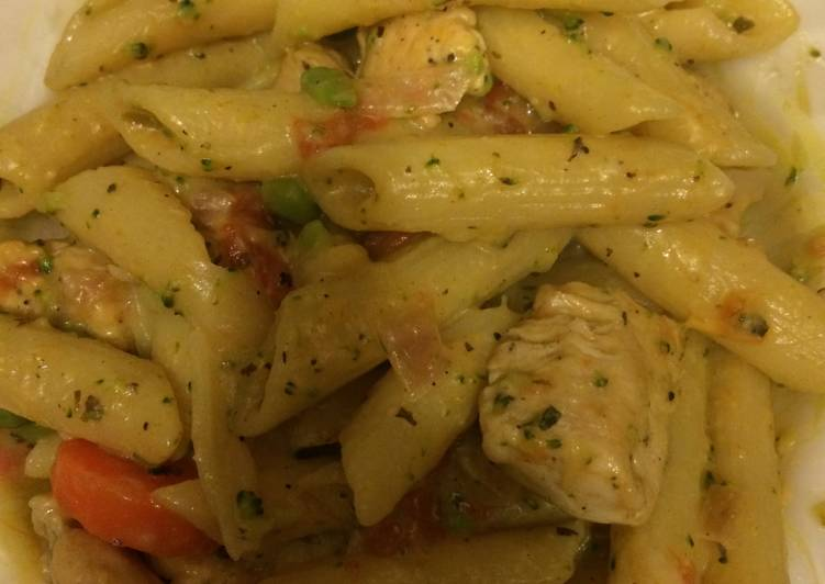 25 Minute Recipe of Cooking Chicken Creamy Penne Dinner
