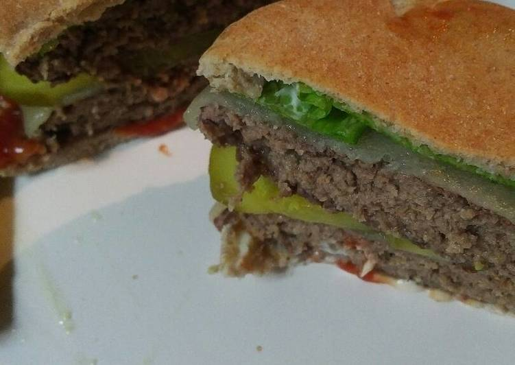 Pita Bread Cheeseburger