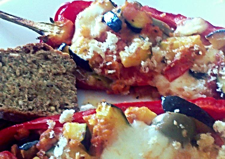 Sig's stuffed sweet peppers with vegetables and mozzarella