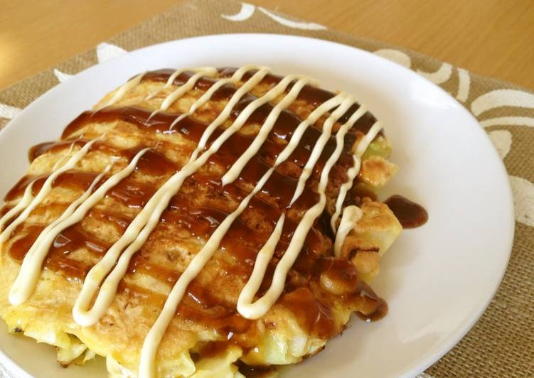 Steps to Make Top-Rated A Single Serving Okonomiyaki with Just Cabbage