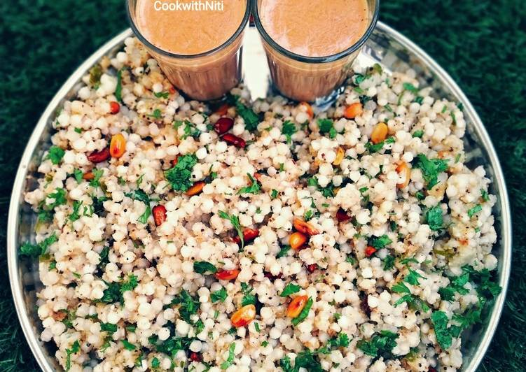 Steps to Prepare Any-night-of-the-week Sabudana khichdi Gujarati style