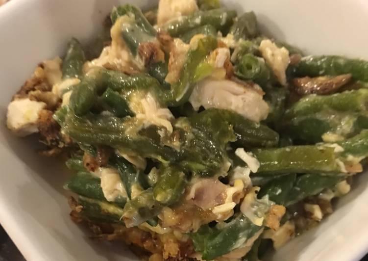 Chicken and green bean casserole