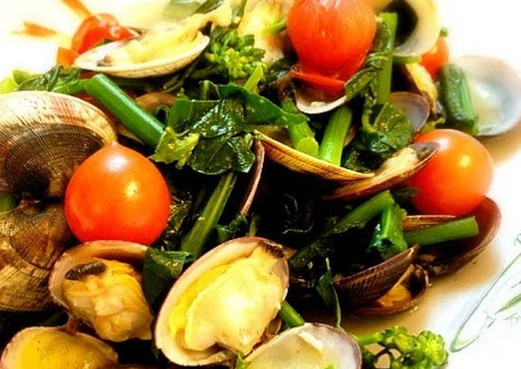 Recipe of Ultimate The Colors of Spring Sublime Sake-Steamed Manila Clams