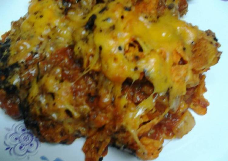 Simple Way to Make Ultimate Doritos and chili casserole