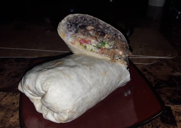 Recipe: Appetizing Grilled chicken and braised pork burrito