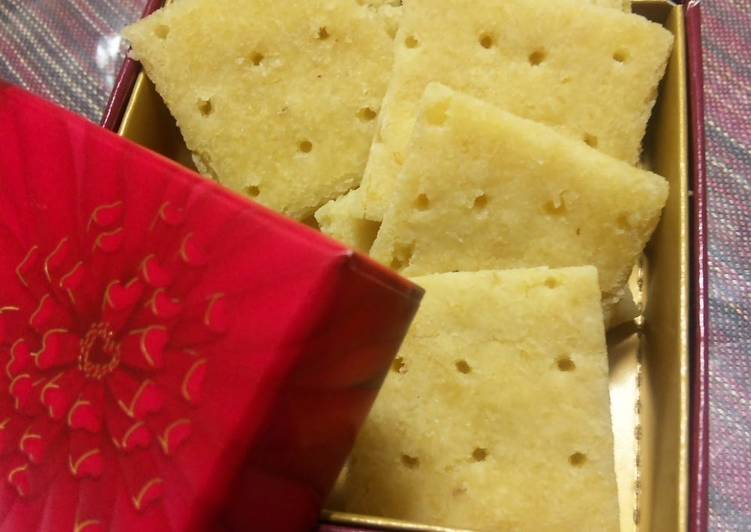 Cheese-Flavored Okara Crackers in the Microwave - Laurie G Edwards
