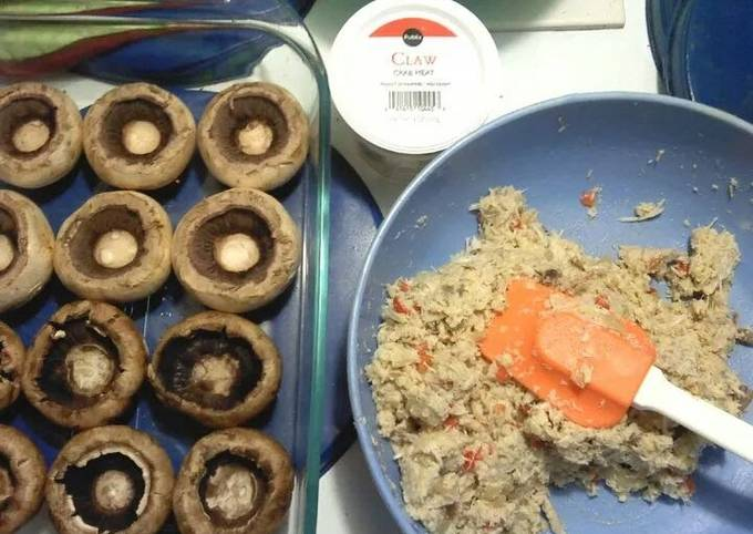 Becks Crab Stuffed Mushrooms