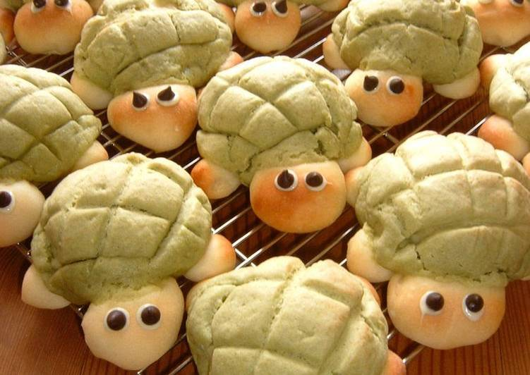 Easiest Way to Make Appetizing So Cute! Turtle-Shaped Melon Bread