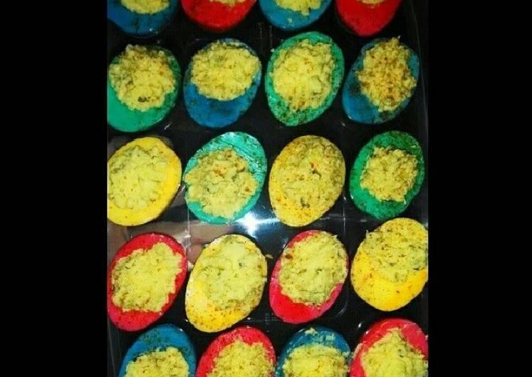 Colored deviled eggs