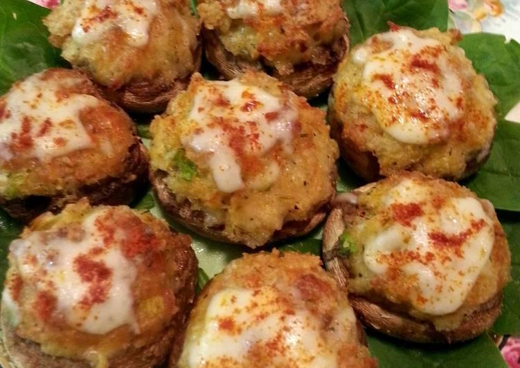 Recipe of Any-night-of-the-week Crab Stuffed Mushrooms