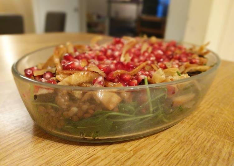 Step-by-Step Guide to Make Perfect Rocket, Lentil, Aubergine salad