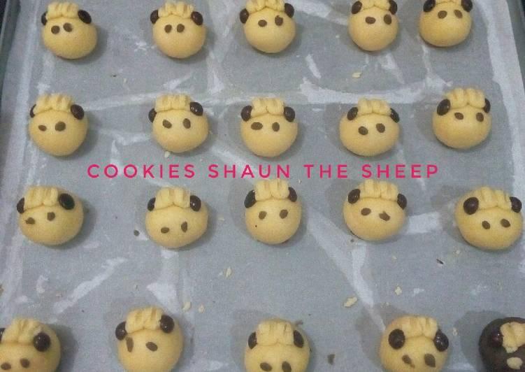 Cookies Shaun the sheep(cookies domba) - cookandrecipe.com