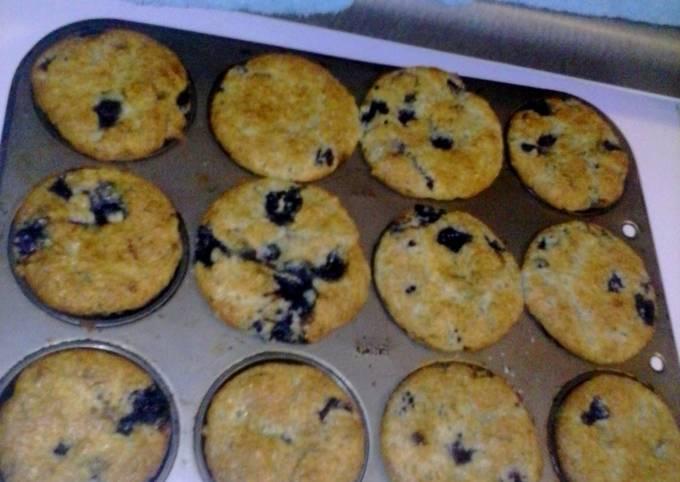 Recipe: Tasty Creamy Blueberry Muffins