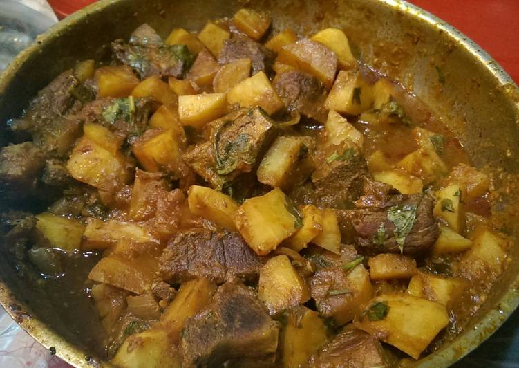 Recipe: Tasty Egyptian meat plate with potato
