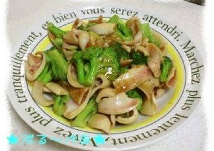 Chinese-style Stir-Fried Squid and Broccoli