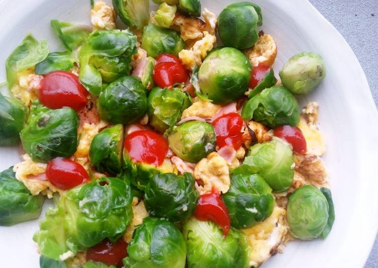 Recipe of Any-night-of-the-week Colourful Scrambled Eggs with Brussels Sprouts