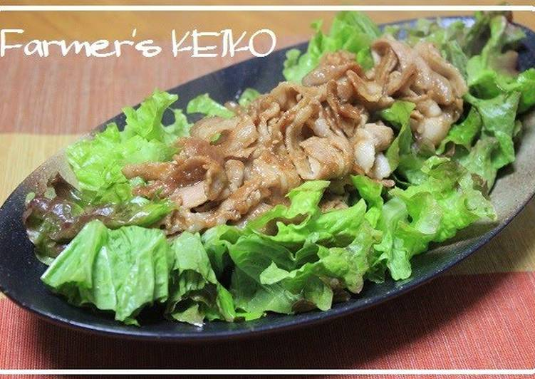 The Best Dinner Ideas Favorite Pork Belly Salad with Onion Dressing