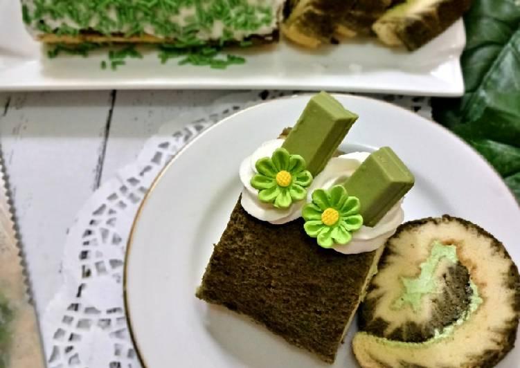 Resep Hurricane Matcha Swiss Roll Cake Anti Gagal