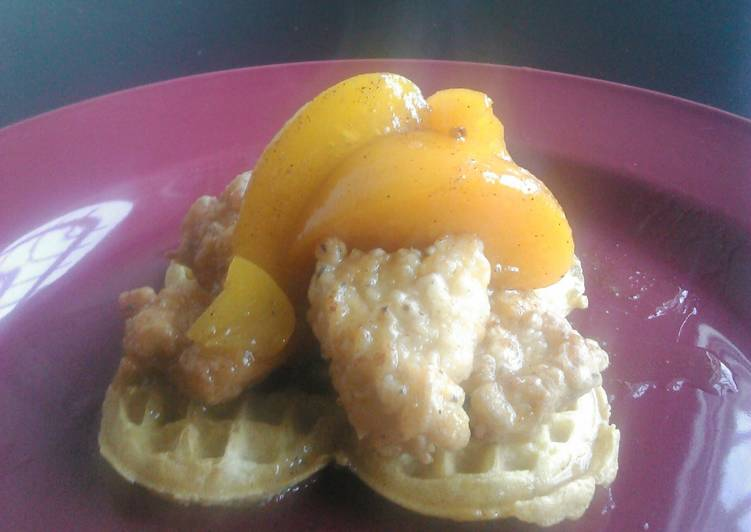 Recipe of Quick Chicken and waffles with love