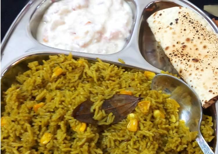 What is Dinner Easy Quick Hariyali Corn Pulav
