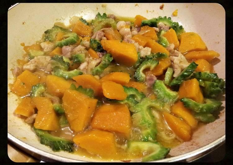 """Recipe of Ultimate AMIEs """"KALABASA (squash) with AMPALAYA"""""""
