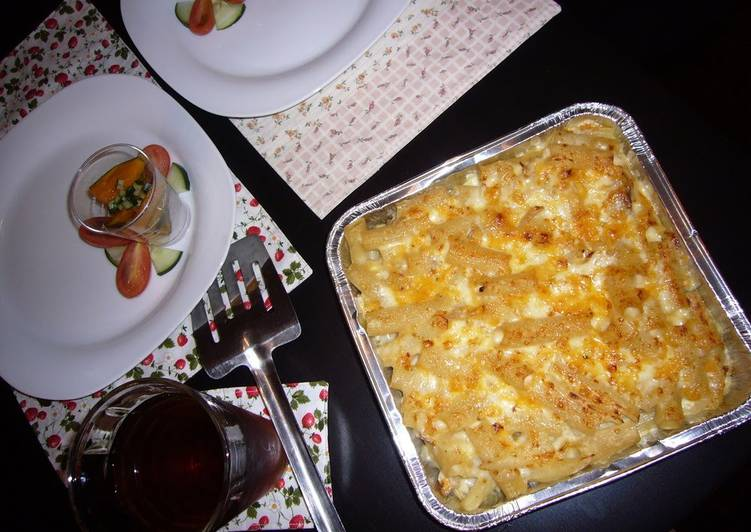 Step-by-Step Guide to Make Favorite Easy Macaroni Gratin with Soy Milk