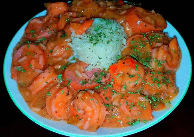 Steps to Prepare Perfect Mike's Beginners Shrimp & Andulie Sausage Étouffée