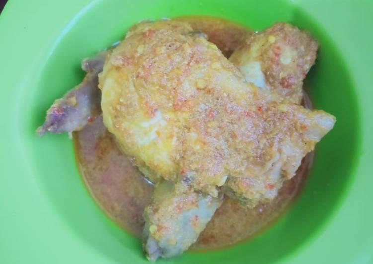 Ayam betutu no bumbu iris