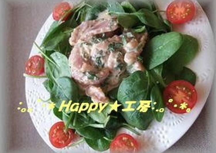 Recipe of Favorite Tuna Salad With Sesame Sauce