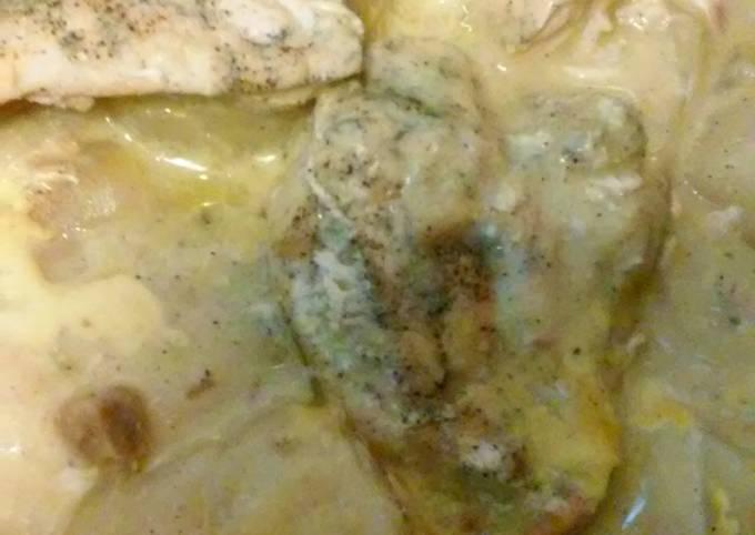 Crock pot creamy chicken breast and potatoes
