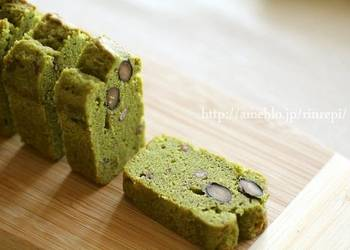 How to Cook Perfect Matcha and Ogura Butter Pound Cake