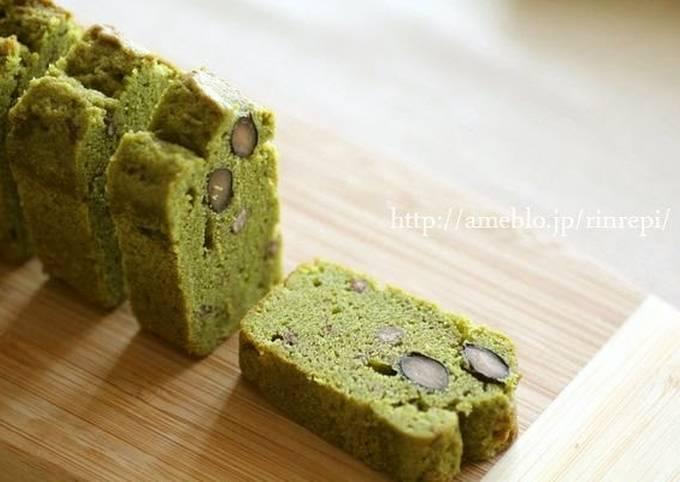 Matcha and Ogura Butter Pound Cake