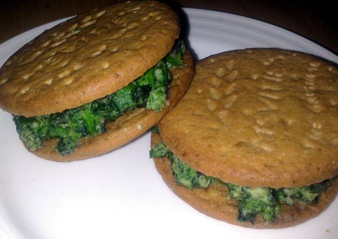 Easiest Way to Make Appetizing Sig' s Spinach and Broccoli Digestive Sandwich