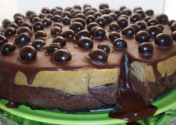 5 Minute Recipe of Award Winning Layered mocha cheesecake