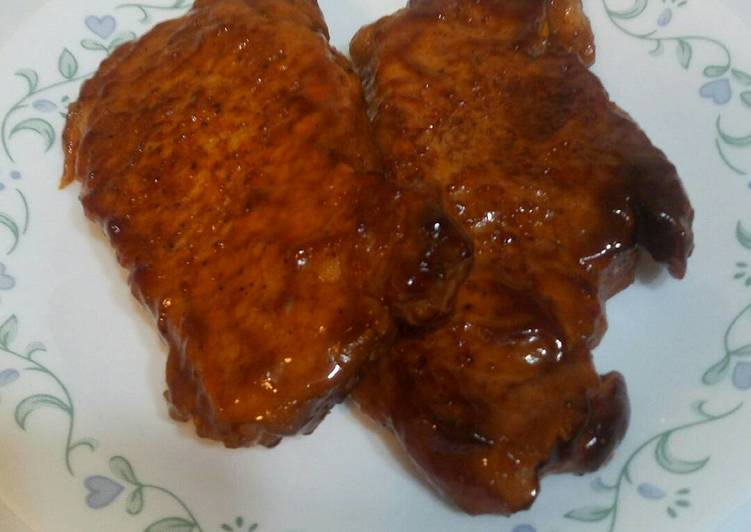 Recipe: Delicious Oven Baked BBQ pork chops
