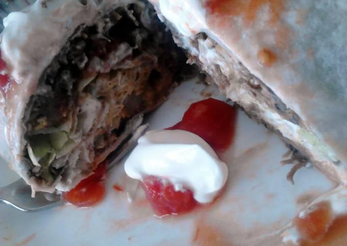 Leftover Potroast Burrito's