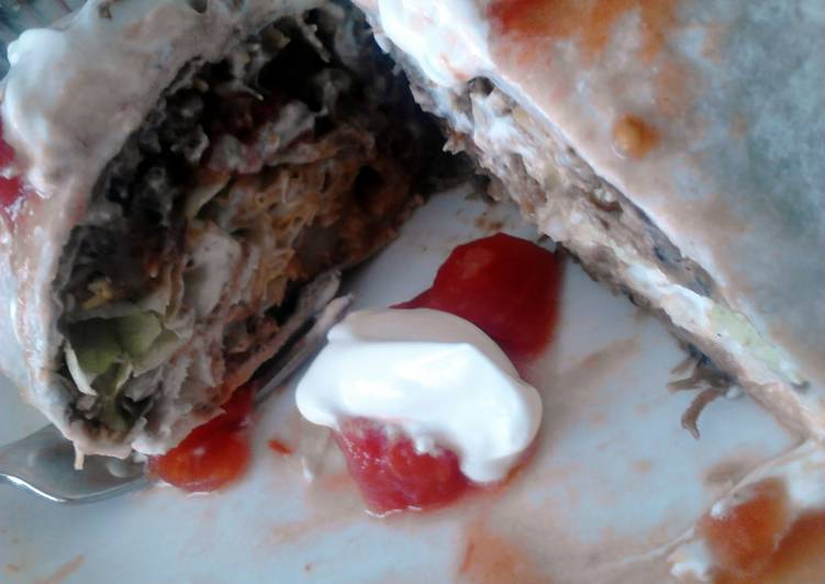 Recipe: Perfect Leftover Potroast Burrito's