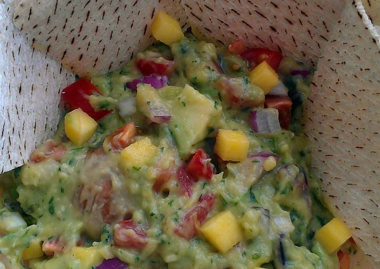 Recipe: Appetizing Vickys Mango Guacamole, GF DF EF SF NF