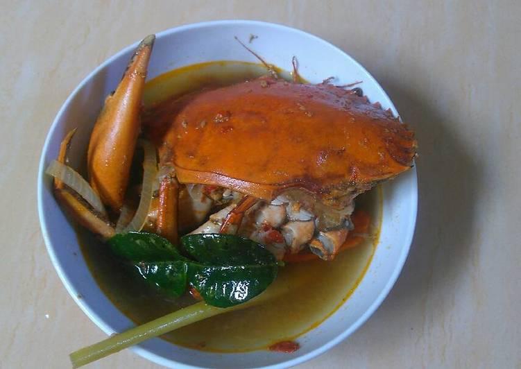 Kepiting kuah tomyam