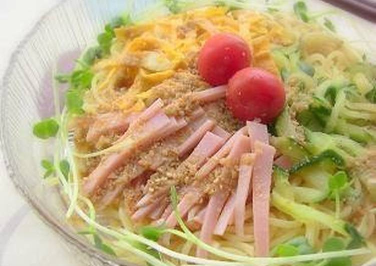 Chilled Chinese-style Noodles with Yakisoba Noodles