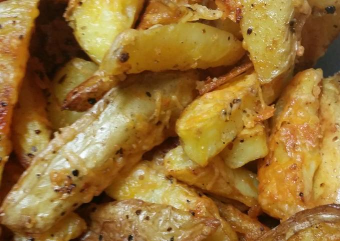 Cheesy Roasted French Fries