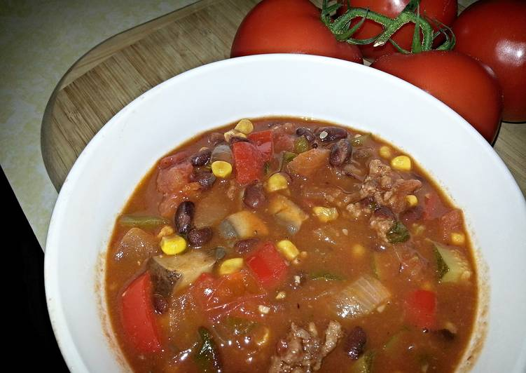 Sweet Sausage and Vegetable Chili