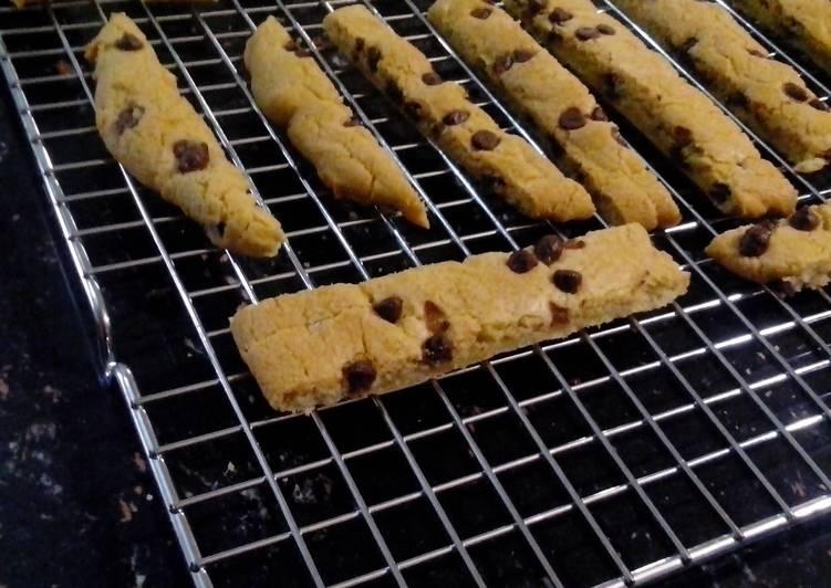 How to Make Homemade Vanilla Chocolate chip cookie sticks