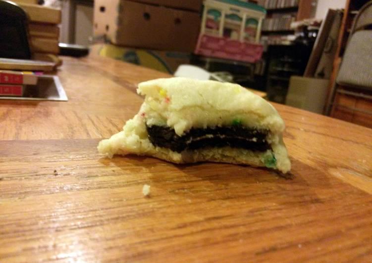 Oreo Cake Batter Cookies