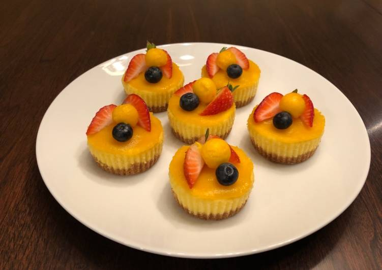 Simple Way to Make Super Quick Homemade Mini Mango Cheesecake