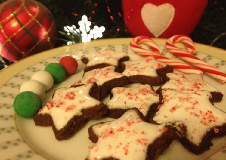 How to Make Speedy Chocolate Peppermint Star Cookies