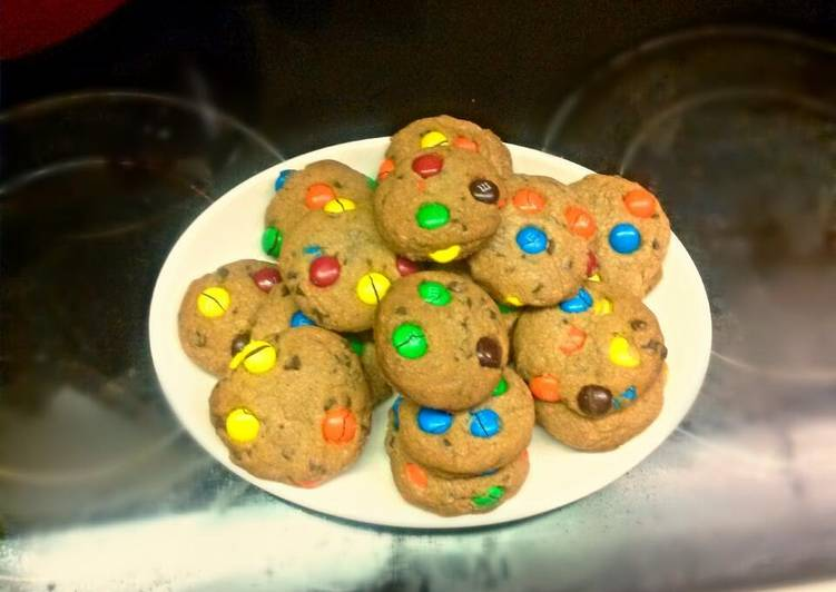 Browned Butter MnM Cookies