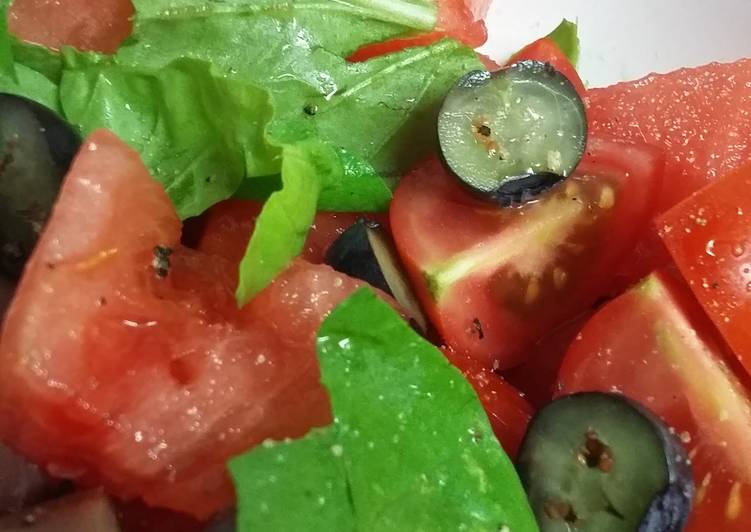 Recipe of Award-winning Watermelon Arugula Salad