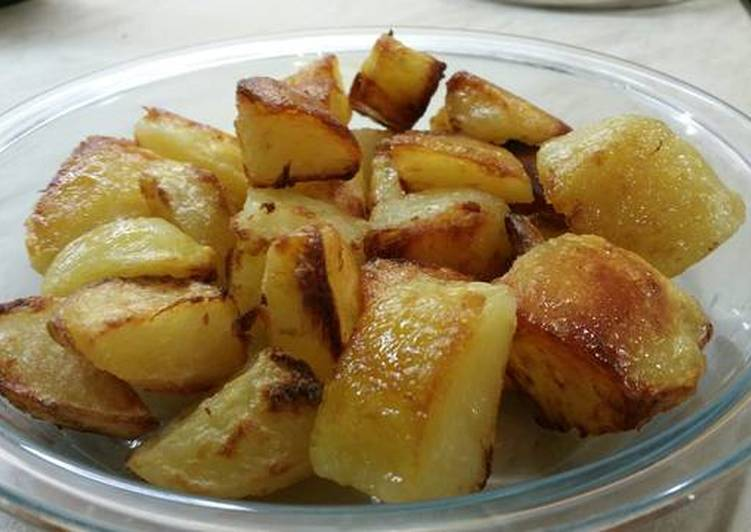 Quick roast potatoes